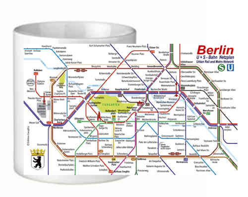 Mug Berlin Railway Map
