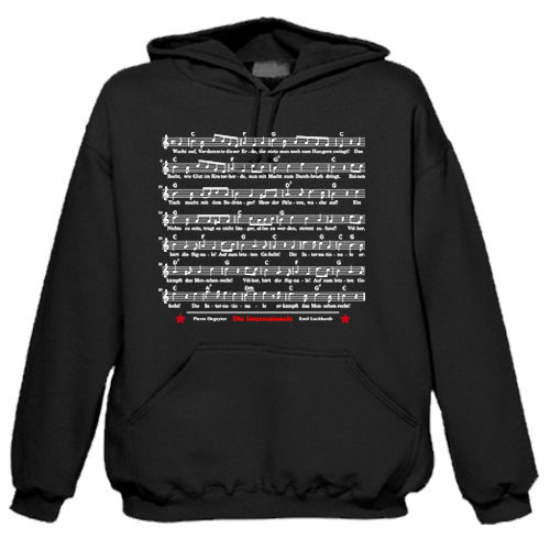 Hoodie Musical note The Internationale