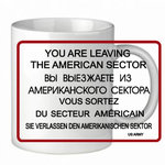 "Mug ""You are Leaving"""