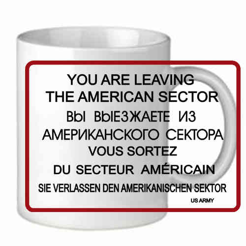 "Tasse ""You are Leaving"""