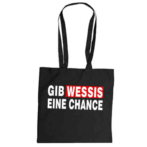 "Cotton bag ""Gib Wessis eine Chance"""