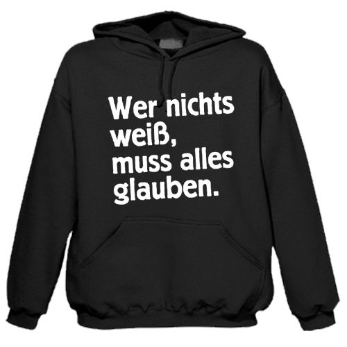 "Sweat shirt à capuche ""Wissen"""