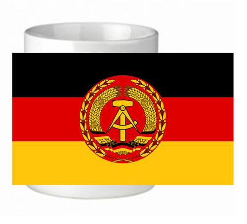"Tasse DDR ""Flagge"" Nationale Volksarmee"