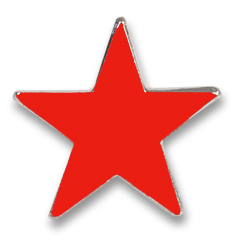 "Pin ""Red Star"""