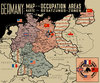 "Magneti per il frigo ""Germany Map 1945"""