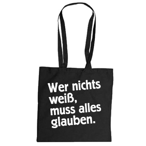 "Cotton bag ""Wissen"""