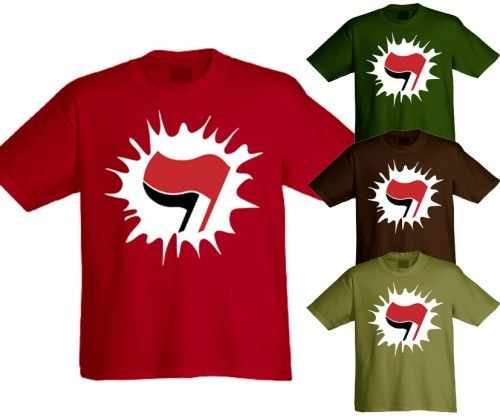 "T-Shirt ""Antifaschistischer Klecks"""