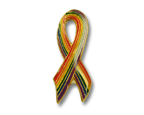 "Pin ""Rainbow Ribbon"""